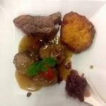 8 hour slow roast lamb, red onion marmalade, pink chump, rosti